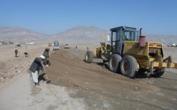 Reconstruction of a 14-km road in Jawzjan