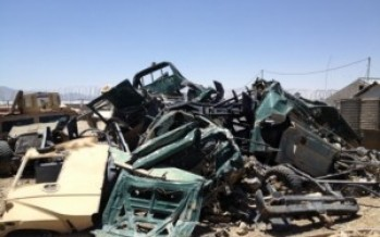 Report: US spent $6.8m on destroyed vehicles in Afghanistan