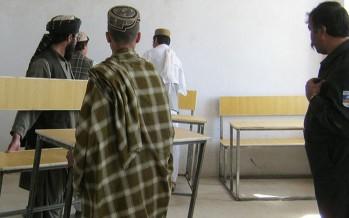 District Chief of Police, District Leaders Deliver Desks, Chairs to Khakrez School