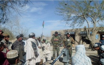 Afghan National Army Special Forces, Villagers Complete Well Project in Talukan Bazaar