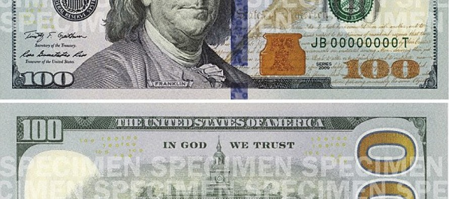 US to print new 100 dollar bills