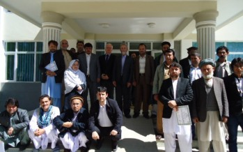 Award ceremony for civil servants' completion of five-phase training programme in Feyzabad