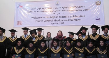 Fourth Cohort of Afghan Students Receives Master of Education  Degree