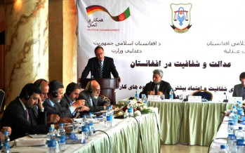 Expert on Judicial Transparency and Former German Constitutional Court Judge visits Afghanistan