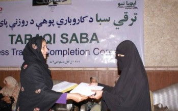 300 Afghan girls receive business training
