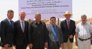 Cornerstone laying ceremony for German-funded faculty building in Balkh