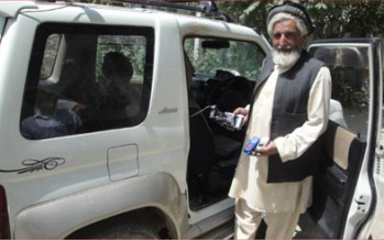 An Afghan man invents a theft detection device