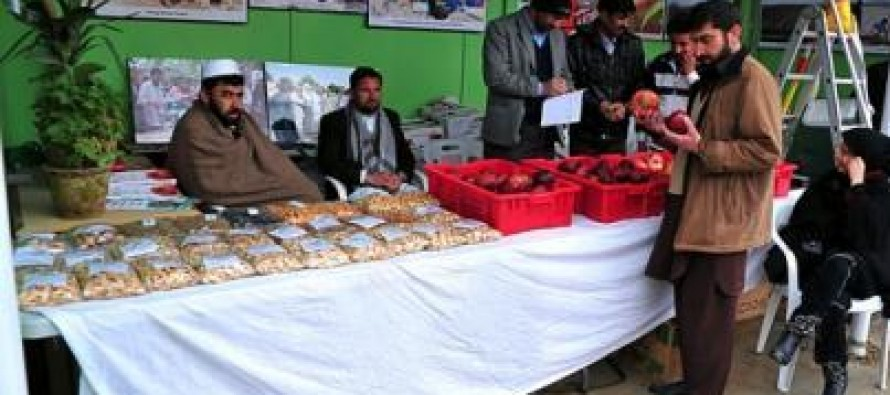 Afghan companies showcase their agro products