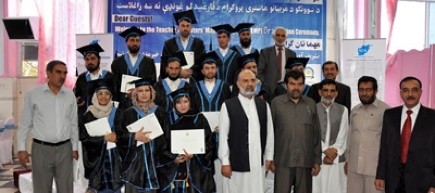 13 Afghan teachers graduate from SCA Teachers Educators Master Program