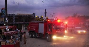 Fire sweeps through a multi-story market in Mazar-e-Sharif