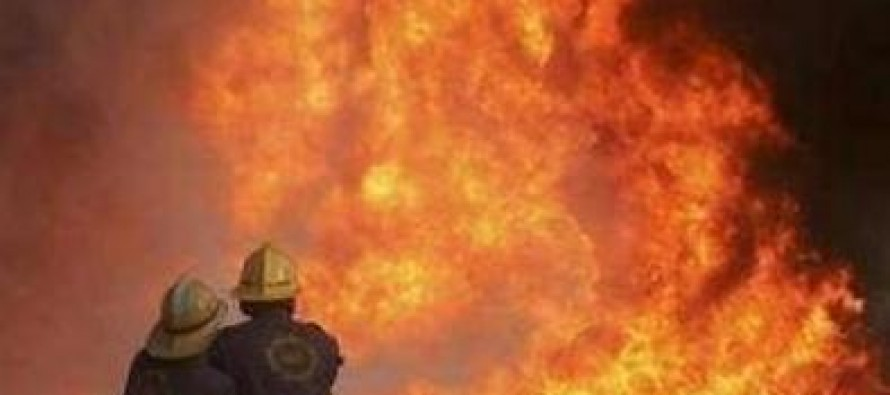 A bazaar gutted in fire in Parwan, causing millions of losses