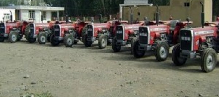 64 Tractors donated to farmers in Bamiyan Province