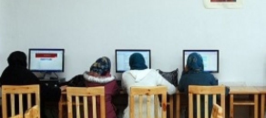 Internet café and library opened for Afghan women in Mazar-e-Sharif