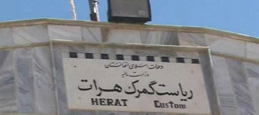 10% decline in Herat's customs revenue