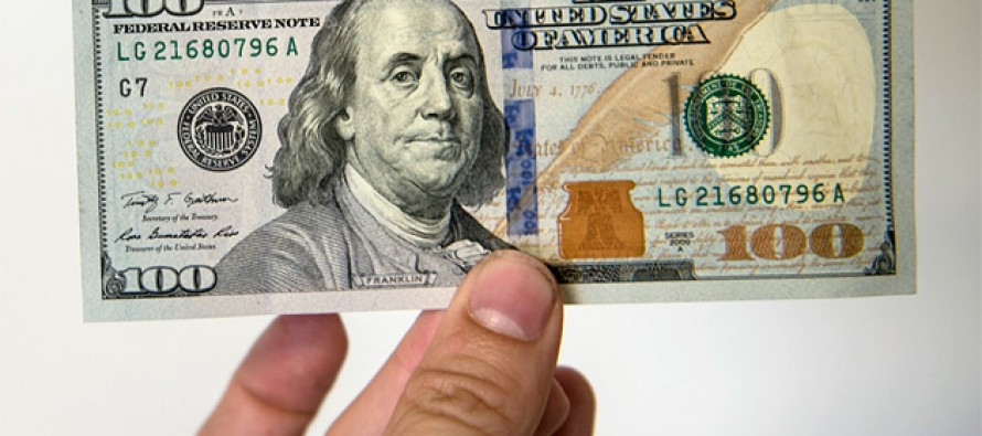 A new 100 dollar bill circulating in the market