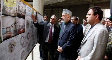 President Karzai visits construction site of the new parliament building