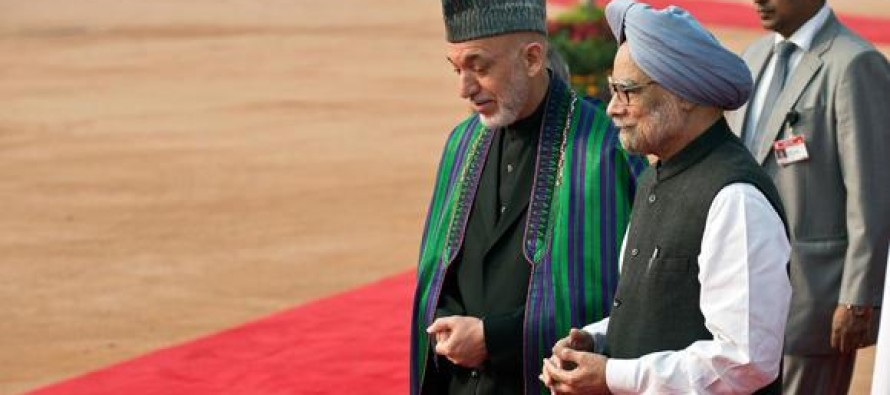 Karzai in India to discuss bi-lateral relations