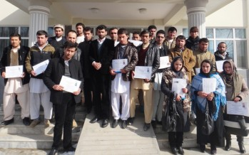 Badakhshan officials receive training on how to manage public health clinic and school building projects