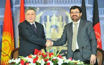 Kyrgyzstan, Afghanistan sign bilateral documents in Kabul