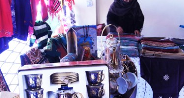 Handicrafts by disabled Afghan women displayed in Kabul