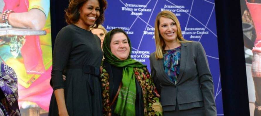 Dr. Nasrin receives International Woman of Courage Award for promoting women's health in Afghanistan