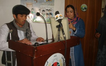 Disabled Afghans demand facilitation in the polling process