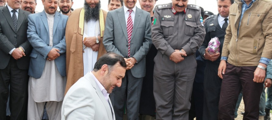 Groundbreaking ceremony for Balkh province administrative building