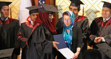 First graduates of Kabul University's Public Policy and Administration program receive Masters Degrees