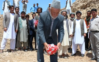 Cornerstone ceremony for Khwaja Burhan Bridge in Khulm district