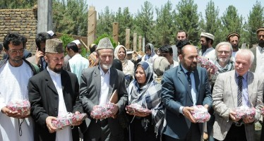 Cornerstone of Women Training Centre and Women Market laid in Faizabad with German aid