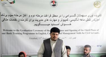 Capacity building for over 120 civil servants in Badakhshan