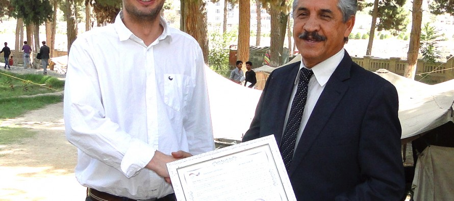 Germany hands over mobile classrooms to the University of Baghlan
