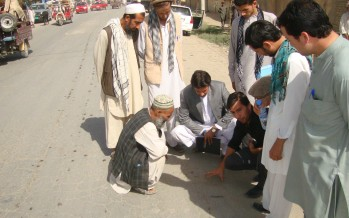 Project engineers and technical staff receive road maintenance training in Kunduz