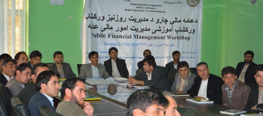 30 civil servants trained in public financial management in Badakhshan