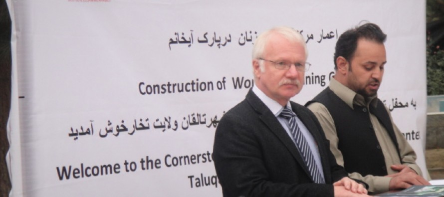 Germany is funding new Women Training Centre in Taloqan