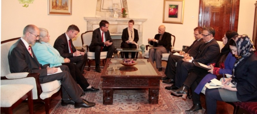 President Ghani Meets German Minister of Economic Cooperation and Development