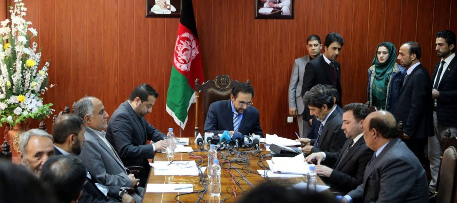 Ahmad Zia Masood calls for coordination between Energy and Agriculture Ministry