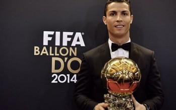 Cristiano Ronaldo wins Ballon d'Or for the third time