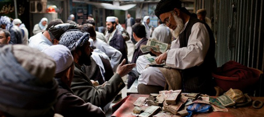 Afghani drops against foreign currencies