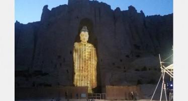 Bamiyan Buddhas of Afghanistan rebuilt with light