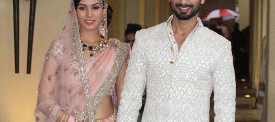 Shahid Kapoor ties knots with 21yr old Mira Rajput