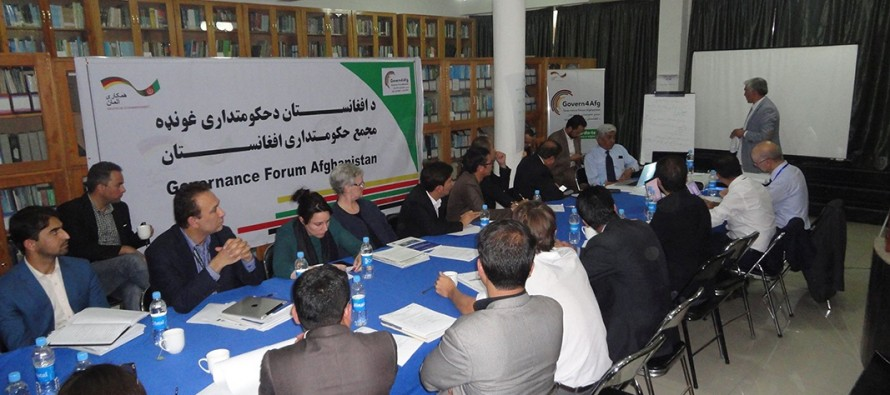Govern4Afg discuss policy planning civil society engagement in governance and budgeting for Afghanistan