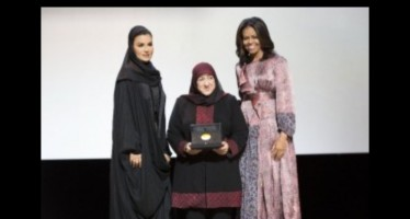 Sakeena Yaqoubi receives the WISE prize for her contribution to Afghanistan's education