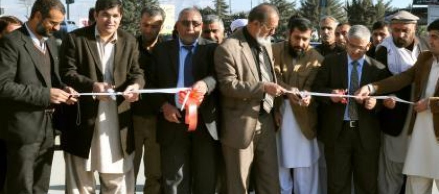 Kabul's newly-reconstructed roads inaugurated