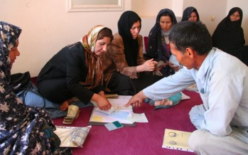Afghan women take their place in rural community development