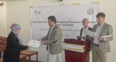 30 Afghan civil servants learn budgeting methods for projects in provinces