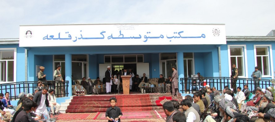 New school for more than 300 children opened in Rustaq, Takhar