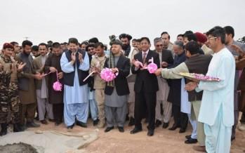 Construction work of Kandahar's cricket stadium kicks off