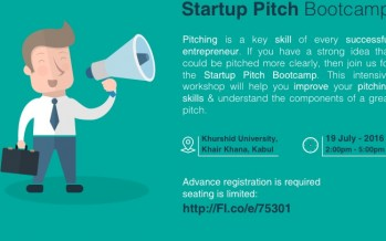 Entrepreneurs in Kabul gather to practice pitching their companies