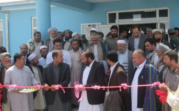 New hospital for 30,000 people in Takhar